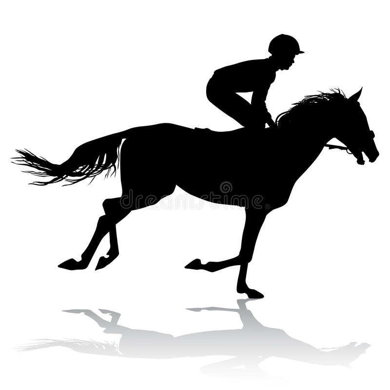 Jockey On Horse 3 Stock Image