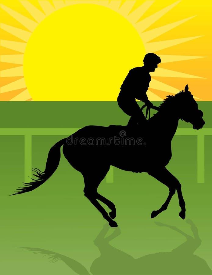 Jockey-Morgen-Fahrt stock abbildung