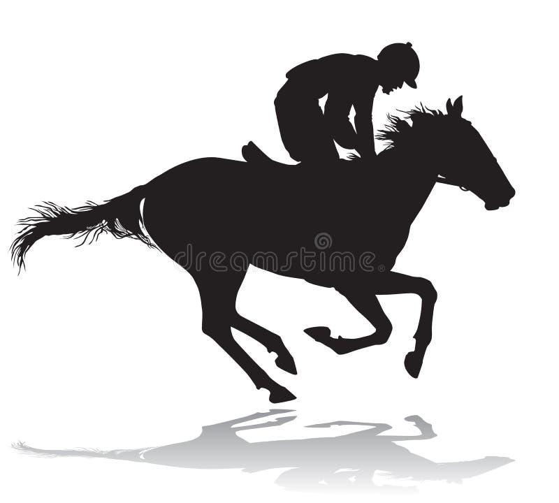 Free Jockey On A Horse 4 Stock Photography - 33434402