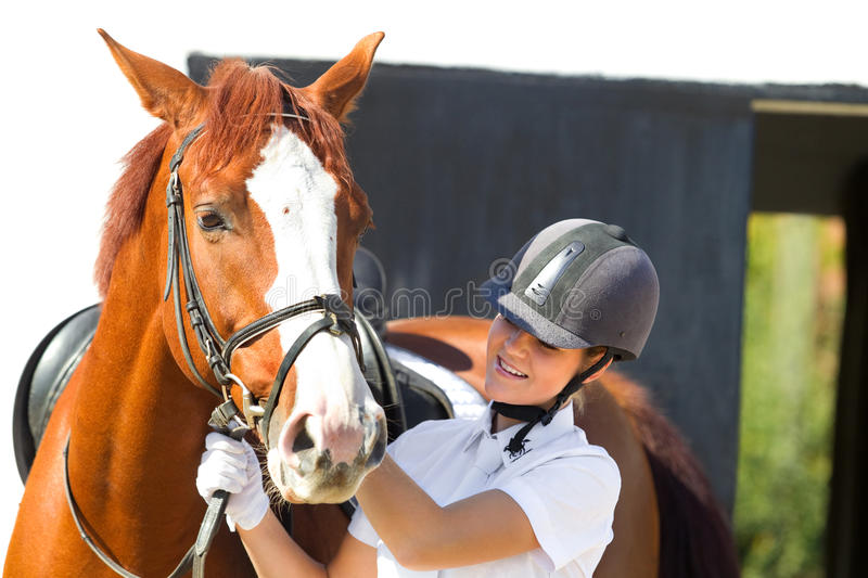 Download Jockey With Purebred Horse Royalty Free Stock Photography - Image: 22838757