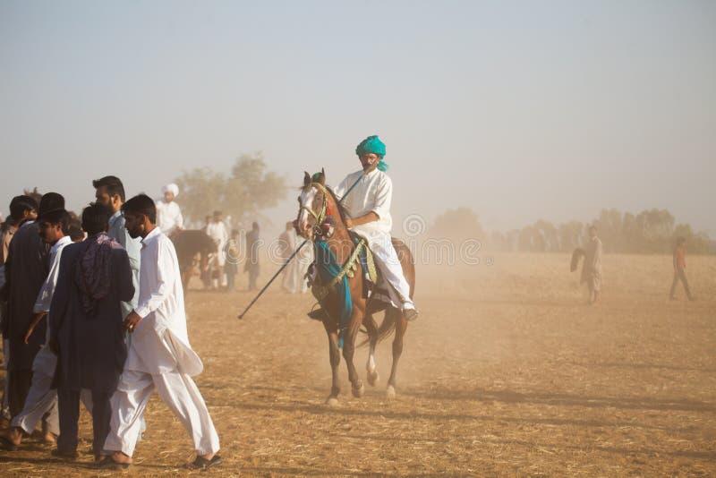 Jockeys sur des chevaux photo libre de droits