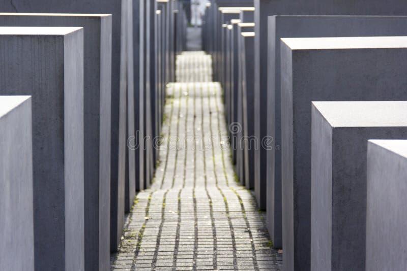 Joden herdenkings geometrisch Berlijn, architectuur, licht, schaduwen, vermenigvuldiging, symmetrie royalty-vrije stock afbeeldingen