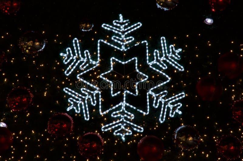 Jodenster bij Kerstboom stock foto
