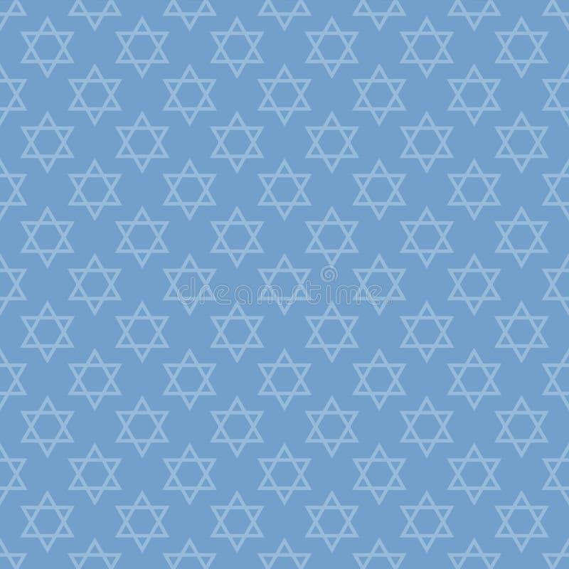 Jodenster naadloos patroon stock illustratie