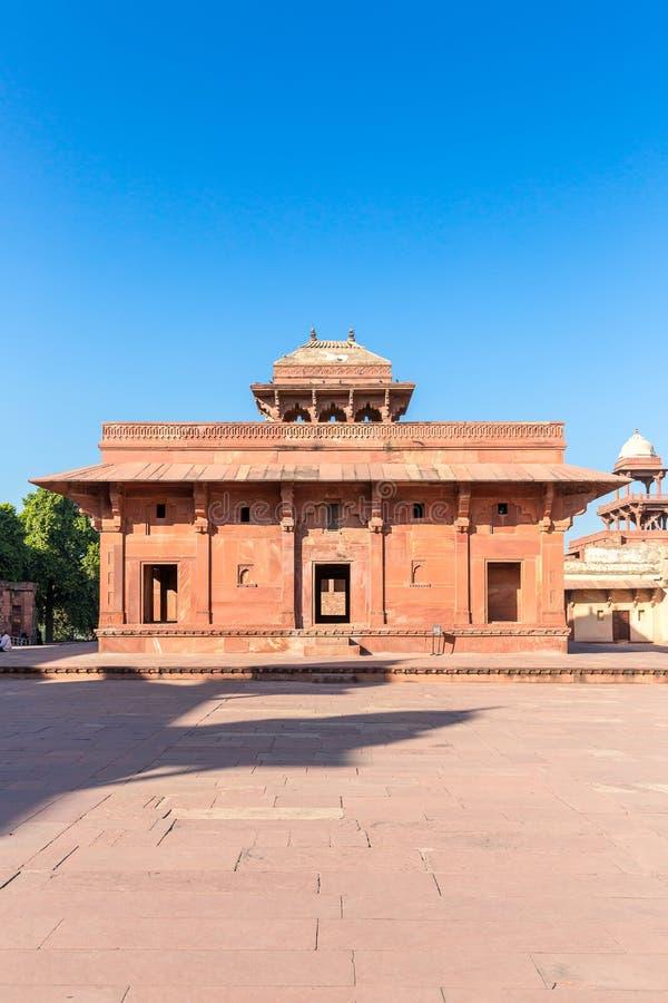 Jodha Bai ` s宫殿,法泰赫普尔西克里,北方邦,印度 库存图片