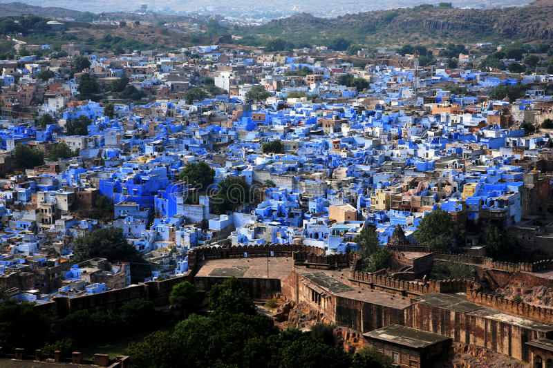 Jodhpur the blue city in Rajasthan, Indi royalty free stock photography