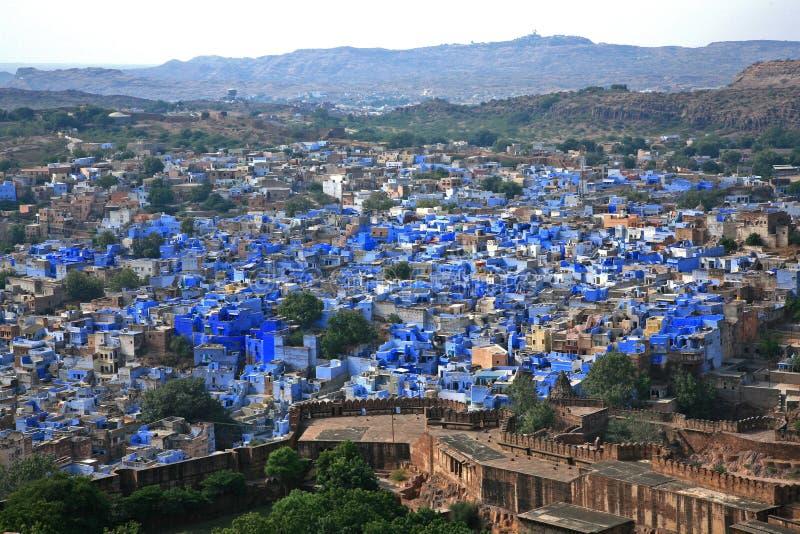 Jodhpur a cidade azul india fotos de stock royalty free
