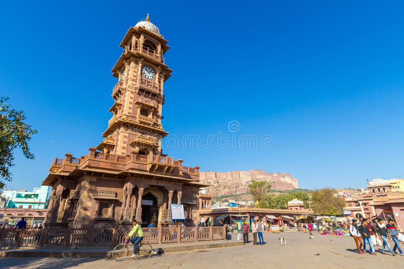 Jodhpur Clocktower stock photos