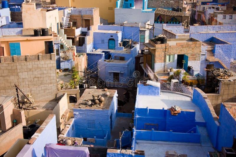 Jodhpur, de blauwe stad royalty-vrije stock foto's