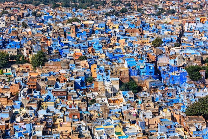 Jodhpur den blåa staden, Rajasthan, Indien arkivfoto