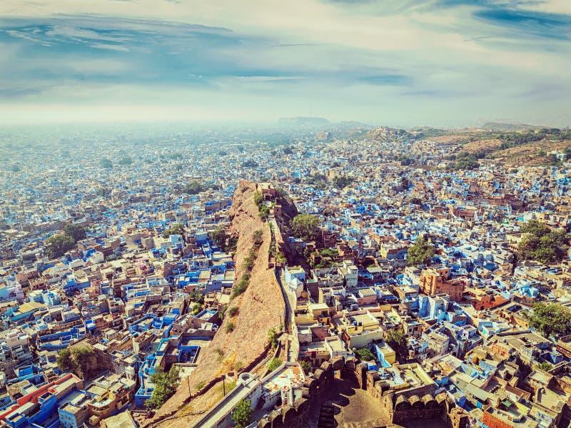 Jodhpur den blåa staden, Rajasthan, Indien arkivbilder