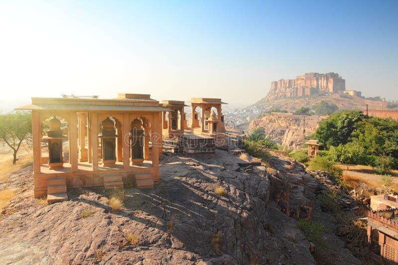 Jodhpur India, Jaswant - Thada i fort fotografia royalty free