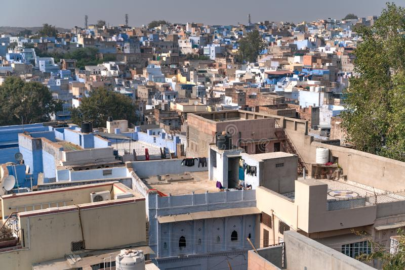 The Jodhpur from the top royalty free stock images