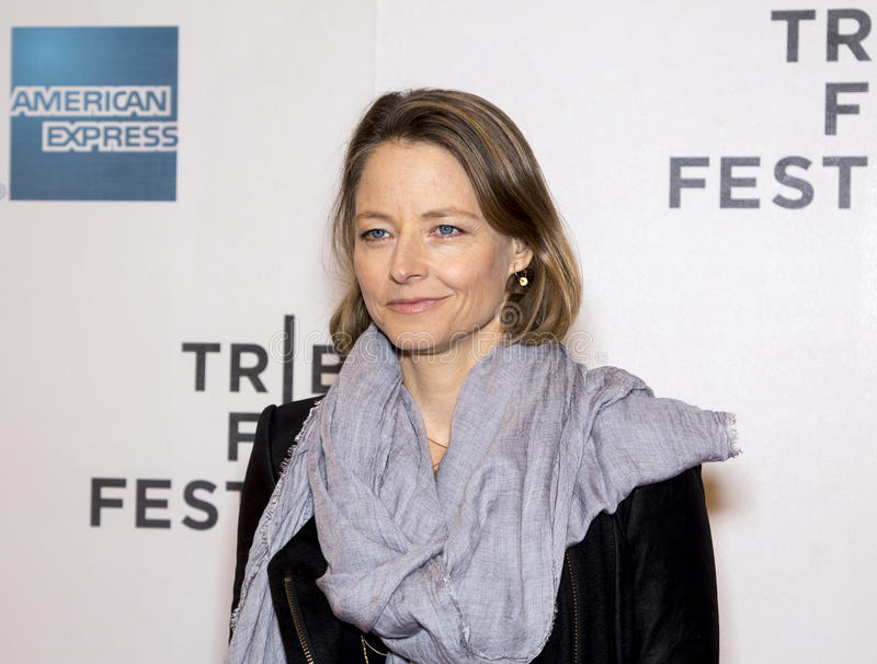 Jodie Foster. Oscar winner, film actress and director Jodie Foster, arrives on the red carpet for the world premiere of Sunlight Jr., at the 12 annual Tribeca royalty free stock photo