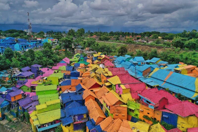 Jodipan村庄东爪哇 库存图片