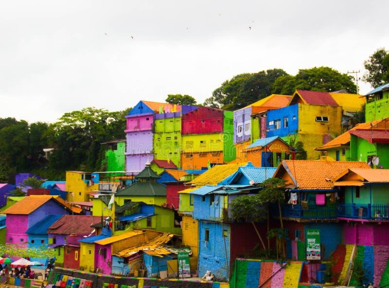 Jodipan le village de Colorize photos libres de droits