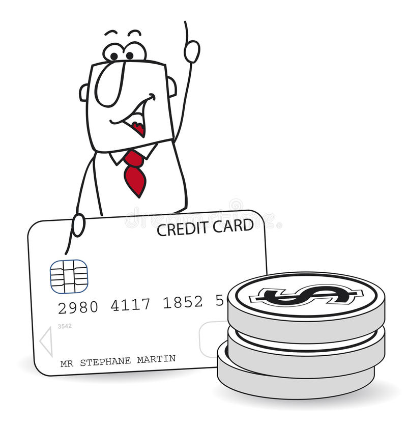 Joe και πιστωτική κάρτα απεικόνιση αποθεμάτων