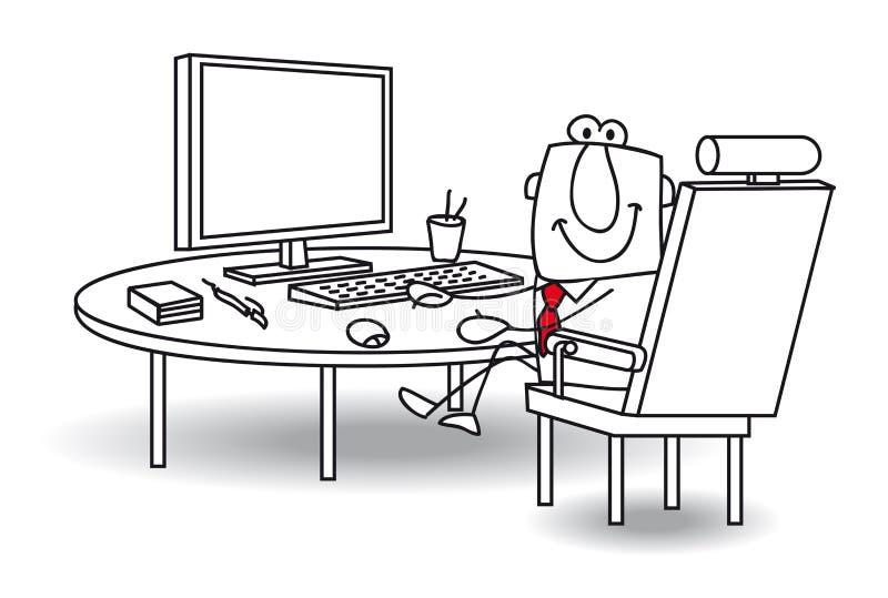Joe au bureau illustration de vecteur
