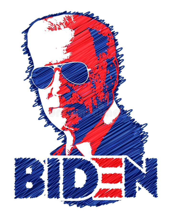 Free Joe Biden Aviator Sunglasses Stock Photography - 175223612