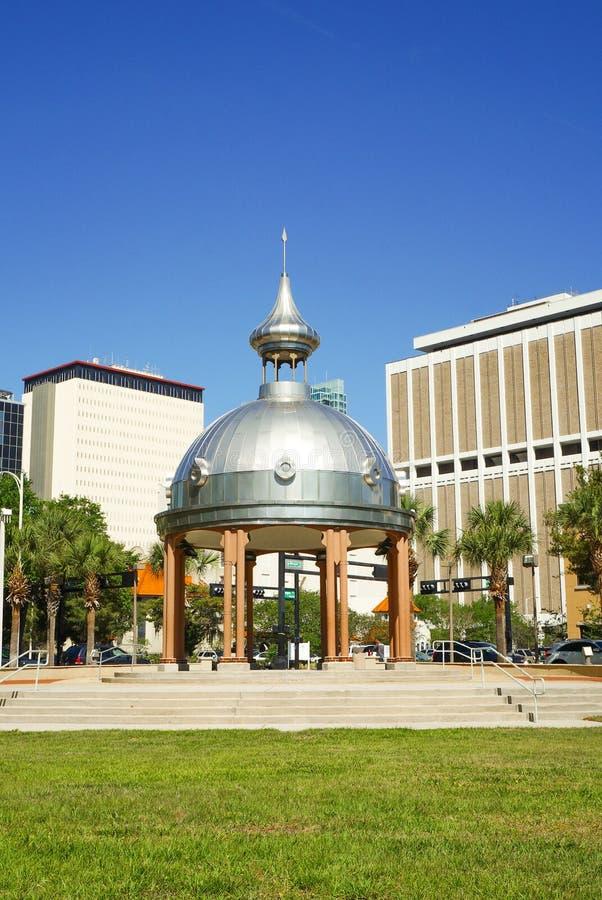 Joe Chillura Courthouse Square, metaalkoepel, Tamper, Florida royalty-vrije stock foto's