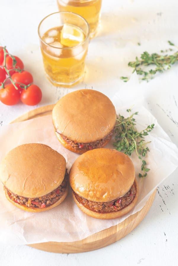 Joe désordonné - sandwich américain photos stock