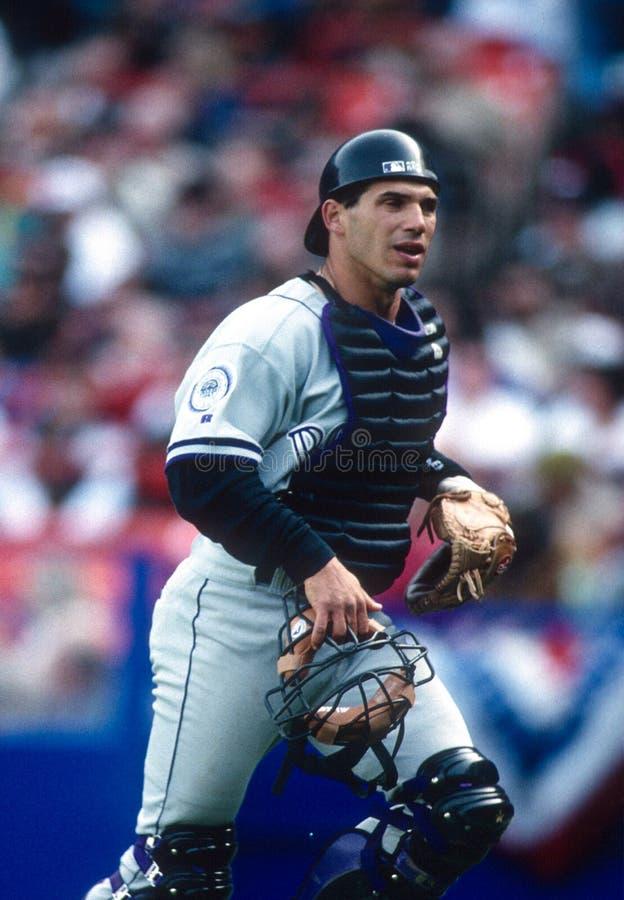 Joe Girardi, Catcher Colorado Rockies. Image taken from color slide stock photo