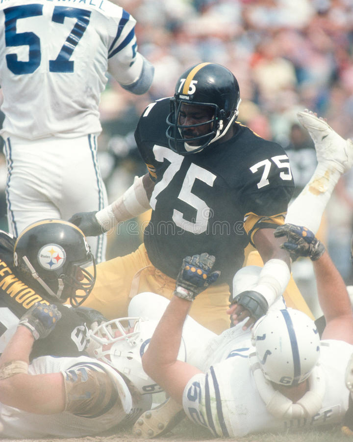 Joe Greene, Pittsburgh Steelers foto de stock royalty free