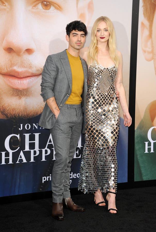 Joe Jonas en Sophie Turner stock foto