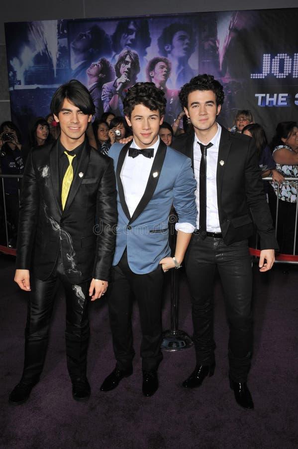 Joe Jonas, frères de Jonas, Kevin Jonas, Nick Jonas,   image libre de droits