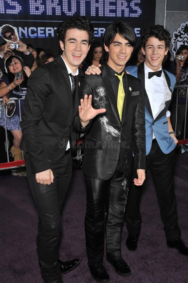 Joe Jonas, Jonas Brothers, Kevin Jonas, Nick Jonas, royalty free stock photography