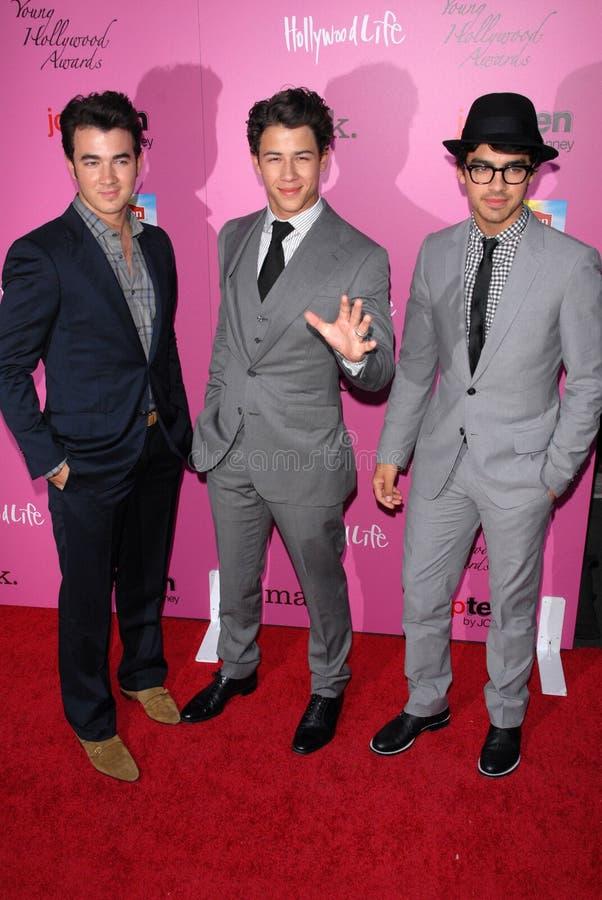 Joe Jonas, Kevin Jonas, Nick Jonas photo stock