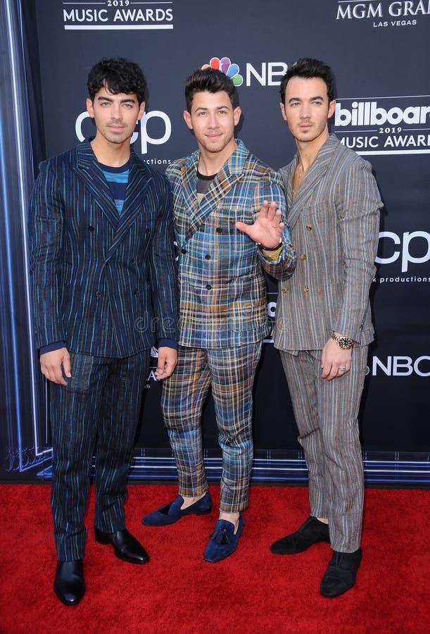 Joe Jonas, Nick Jonas et Kevin Jonas photo stock