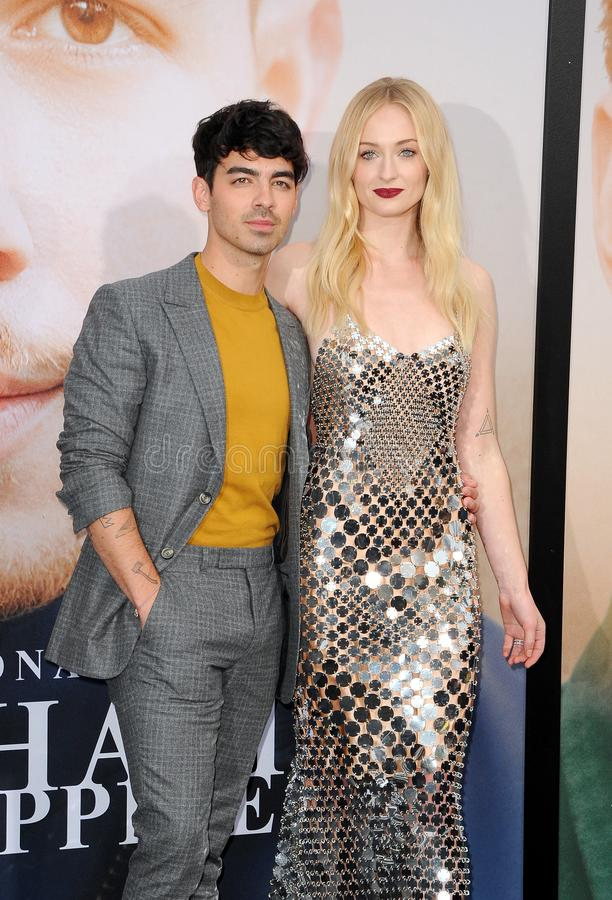 Joe Jonas and Sophie Turner. At the premiere of Amazon Prime Video`s `Chasing Happiness` held at the Regency Bruin Theatre in Westwood, USA on June 3, 2019 royalty free stock photos