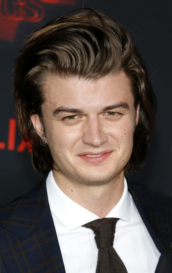 Joe Keery. At the Netflix`s season 2 premiere of `Stranger Things` held at the Regency Village Theatre in Westwood, USA on October 26, 2017 royalty free stock photos