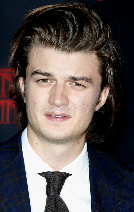 Joe Keery. At the Netflix`s season 2 premiere of `Stranger Things` held at the Regency Village Theatre in Westwood, USA on October 26, 2017 royalty free stock images