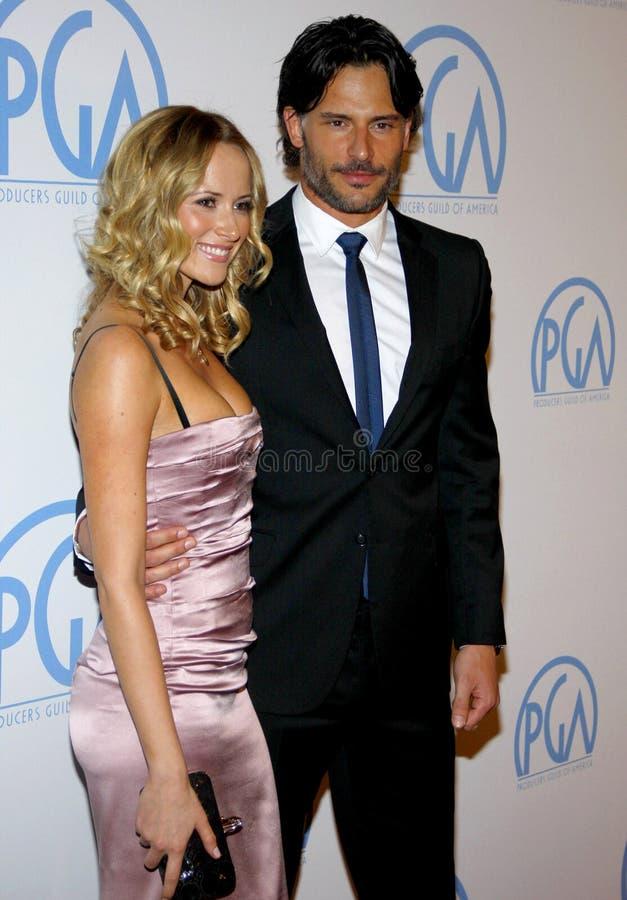 Joe Manganiello et Audra Marie photos stock