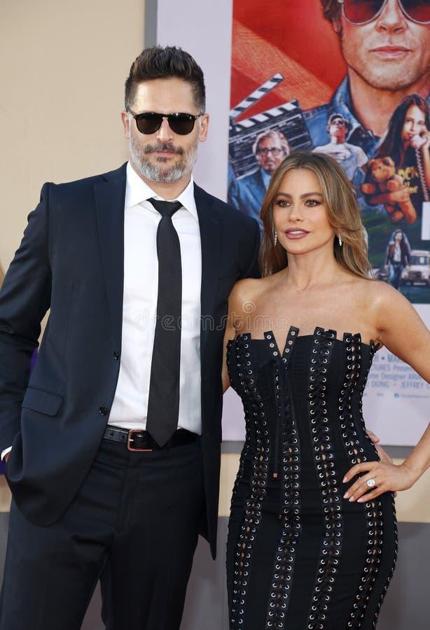 Joe Manganiello i Sofia Vergara obrazy stock