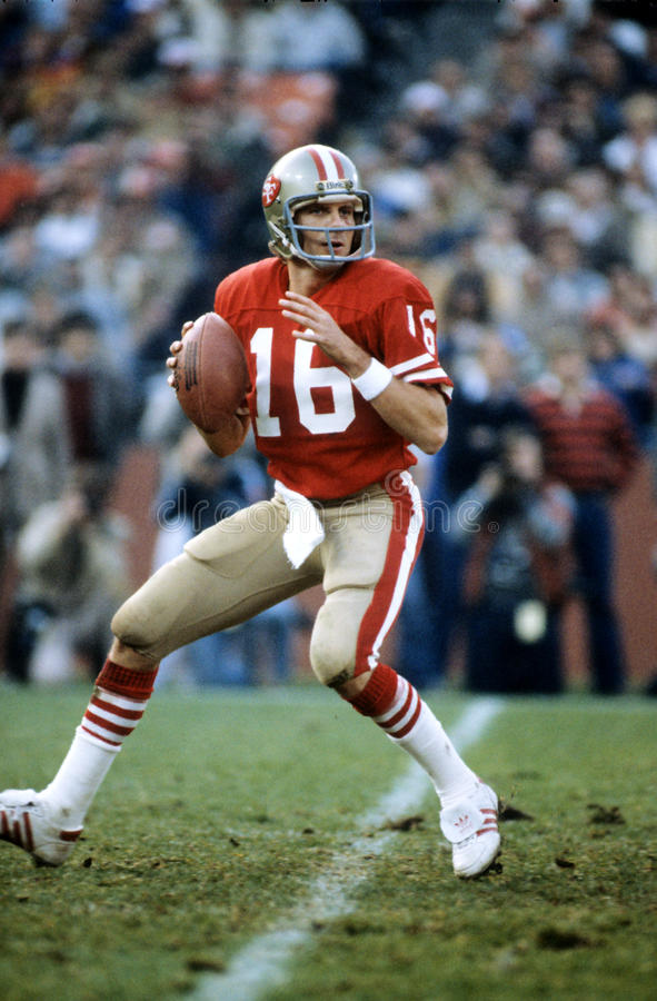 joe montana royaltyfri bild