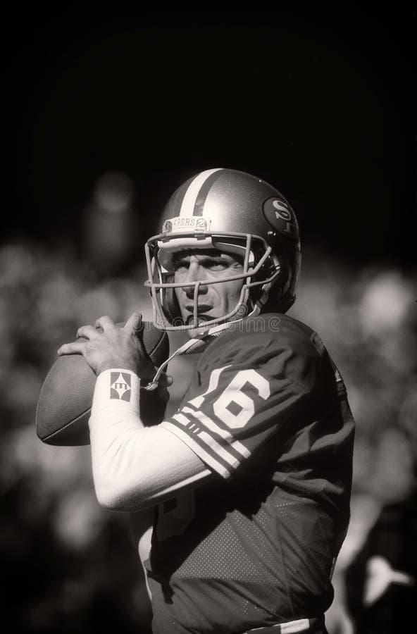 Joe Montana Of The San Francisco 49ers foto de stock royalty free