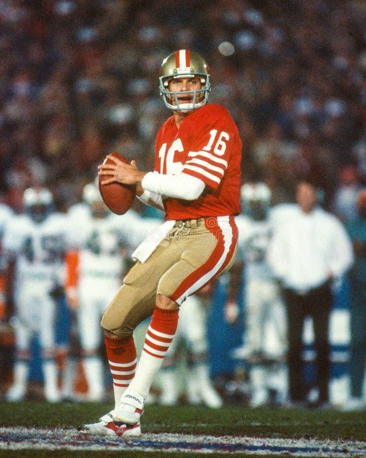 Joe Montana San Francisco 49ers imagens de stock