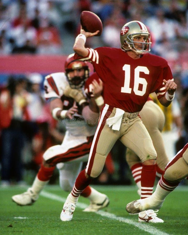 Joe Montana San Francisco 49ers fotografia de stock royalty free