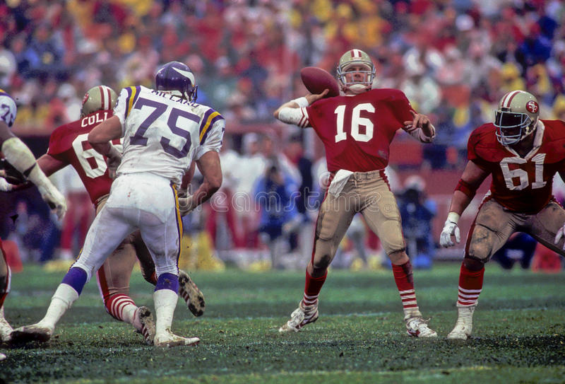 Joe Montana San Francisco 49ers royaltyfri bild