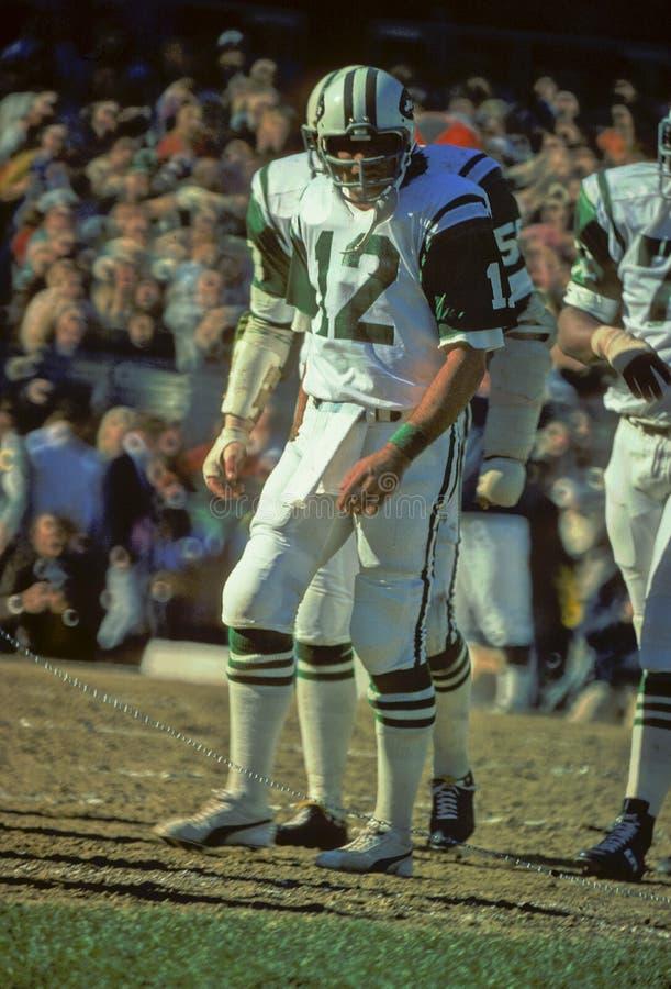 Joe Namath New York Jets imagem de stock royalty free