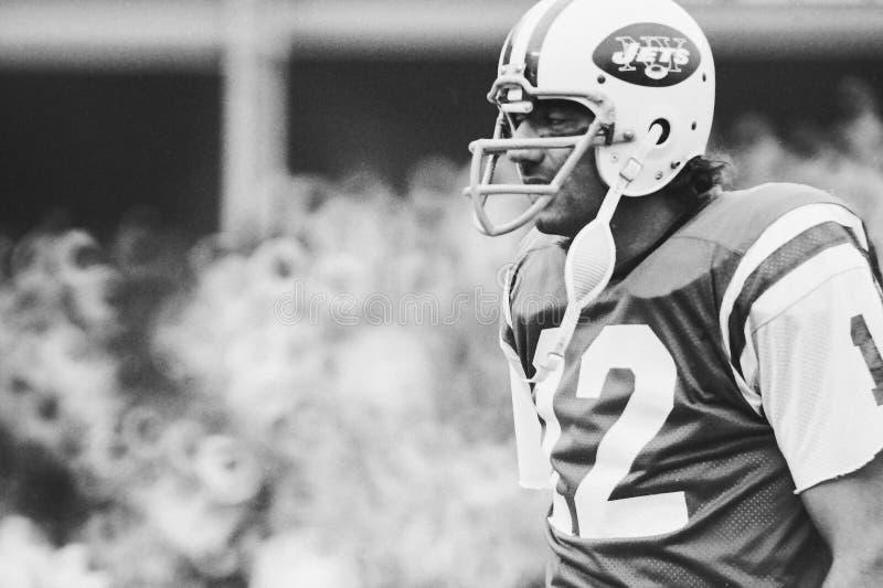 Joe Namath New York Jets. Former New York Jets QB and Hall of Famer Joe Namath. (Image taken from B&W negative royalty free stock image