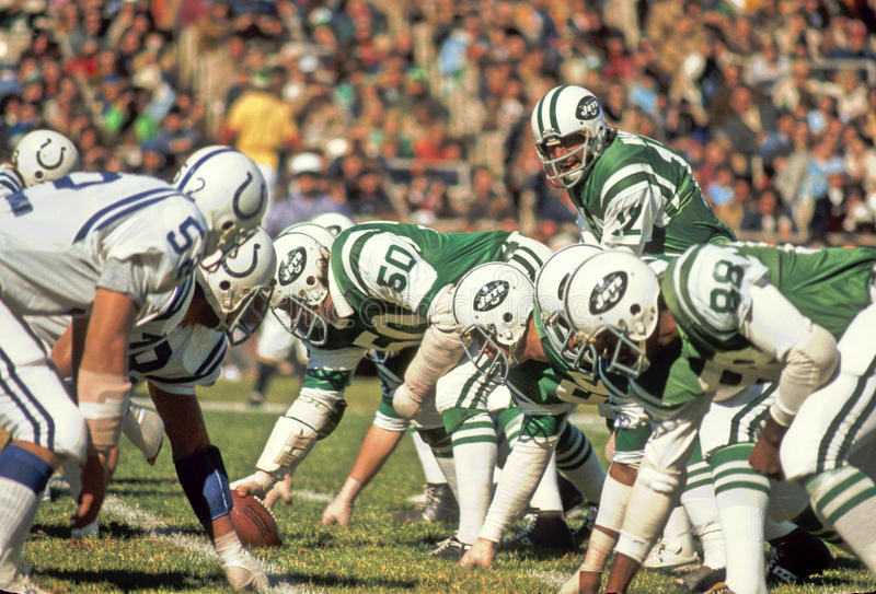 Joe Namath New York Jets. Former New York Jets QB and Hall of Famer Joe Namath. (Image taken from color slide royalty free stock photo