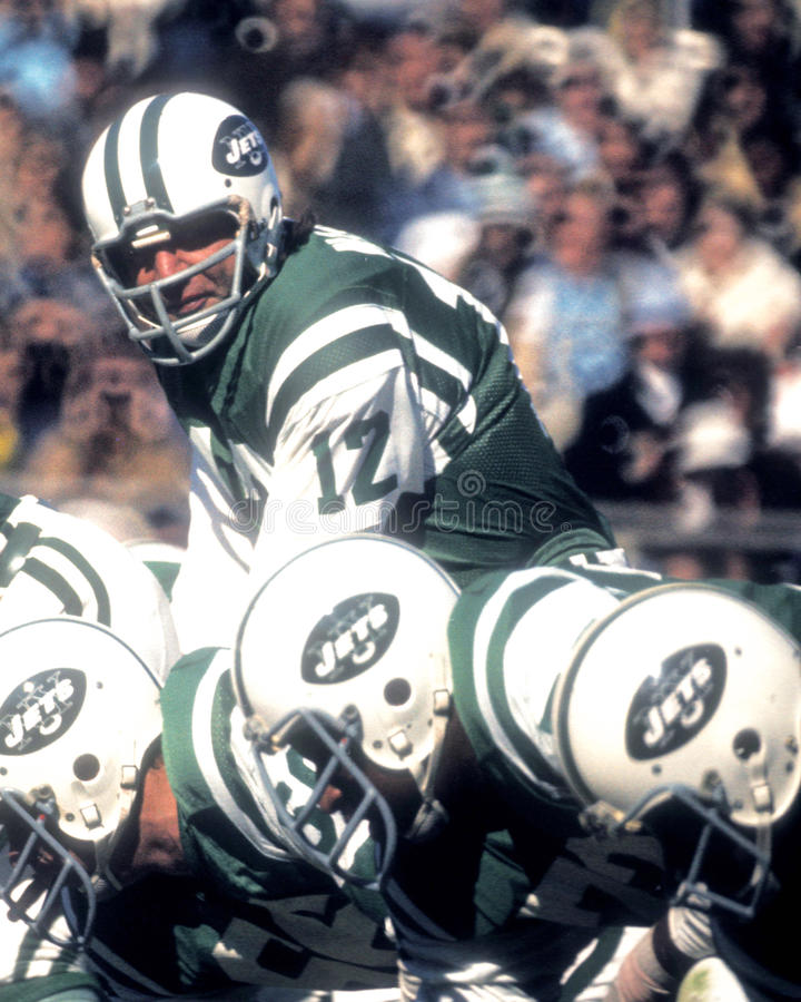 Joe Namath New York Jets. Former New York Jets QB and Hall of Famer Joe Namath. (Image taken from color slide stock images