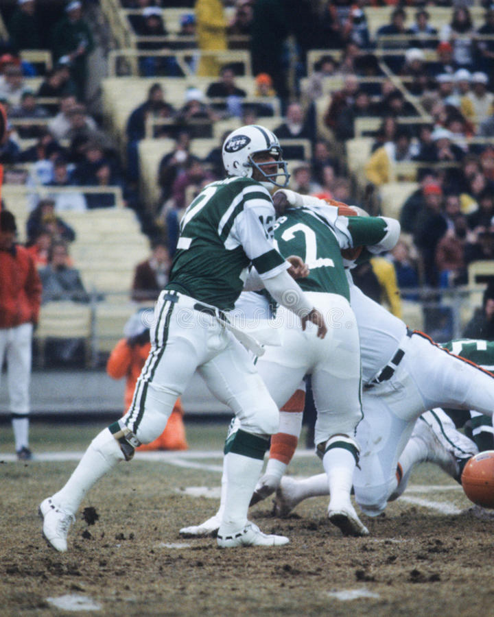 Joe Namath New York Jets. New York Jets QB and Hall of Famer Joe Namath. (Image taken from color slide stock image
