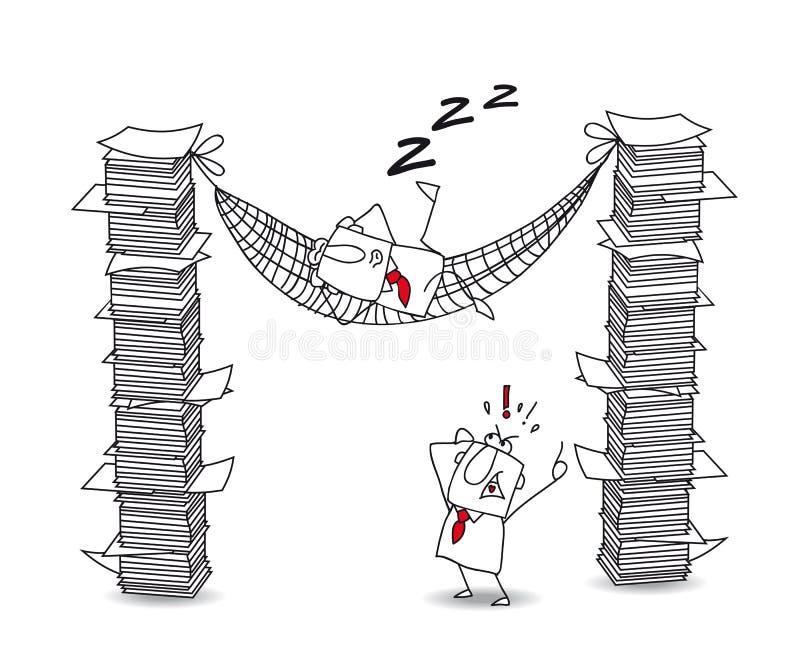 Joe paresseux illustration stock