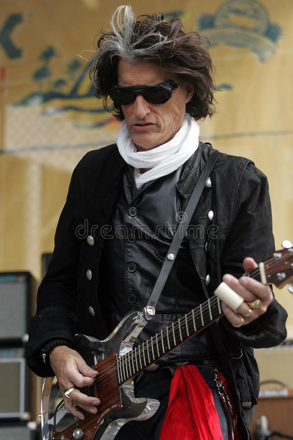 Joe Perry Wykonuje w koncercie zdjęcie royalty free