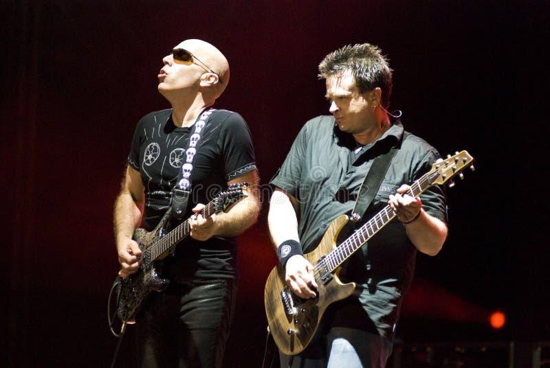 Joe Satriani in Concert stock photos